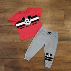 Mickey Shirt and Sweatpants